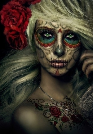 Sexy sugar skull makeup pictures photos and images for facebook tumblr pinterest and twitter - Sugar skull images pinterest ...