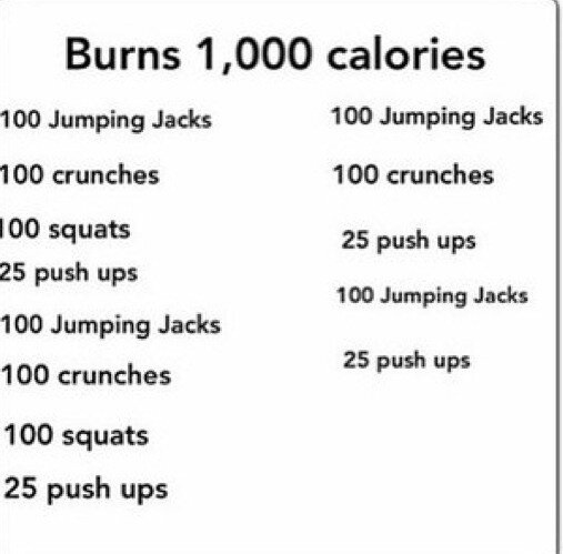 Burn 1000 calories pictures photos and images for How many calories do you burn doing yard work