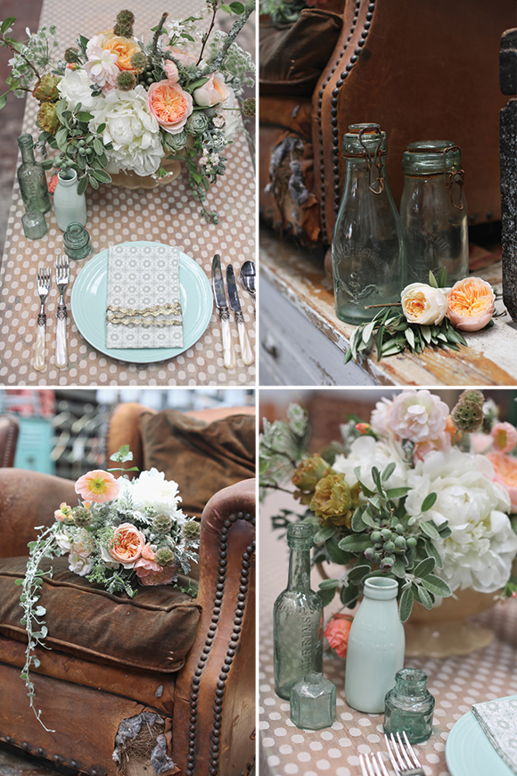 Mint And Peach Party Decorations