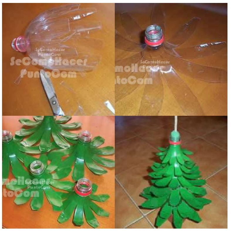 Recycled Plastic Christmas Tree: DIY Plastic Bottle Christmas Tree Pictures, Photos, And