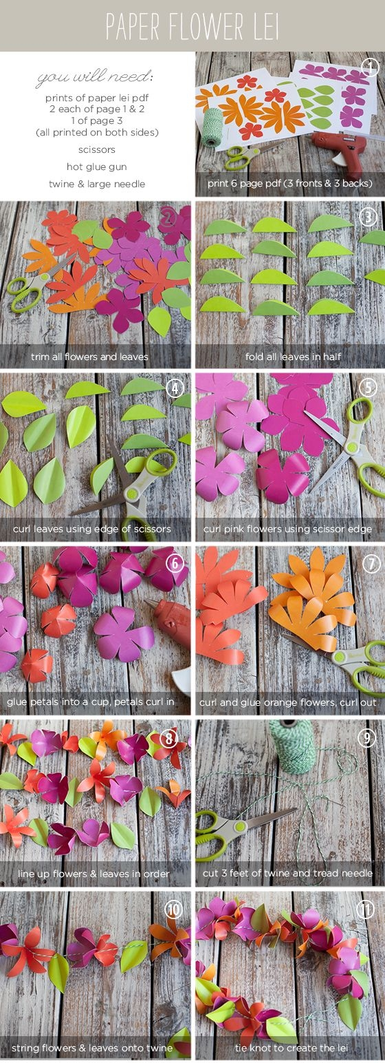 Diy Paper Flower Lei Pictures Photos And Images For Facebook