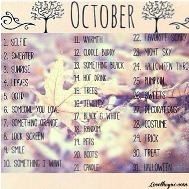 Image result for october tumblr
