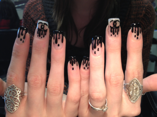 Chanel Paint Dipped Nail Art Pictures Photos And Images For