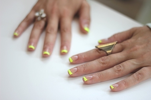 Neon French Manicure Pictures, Photos, and Images for ...