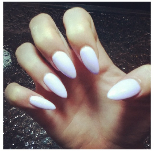 White Stiletto Nails Pictures Photos And Images For Facebook