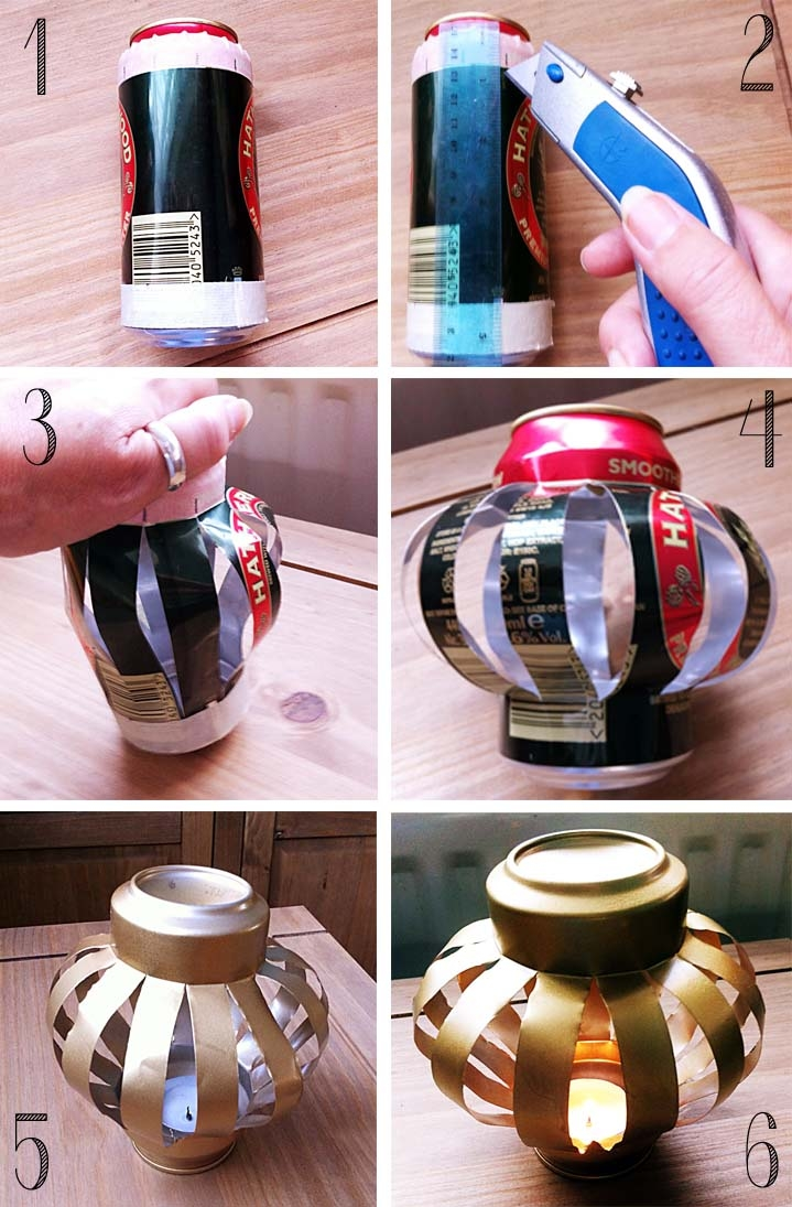 diy soda can tea light holder pictures photos and images