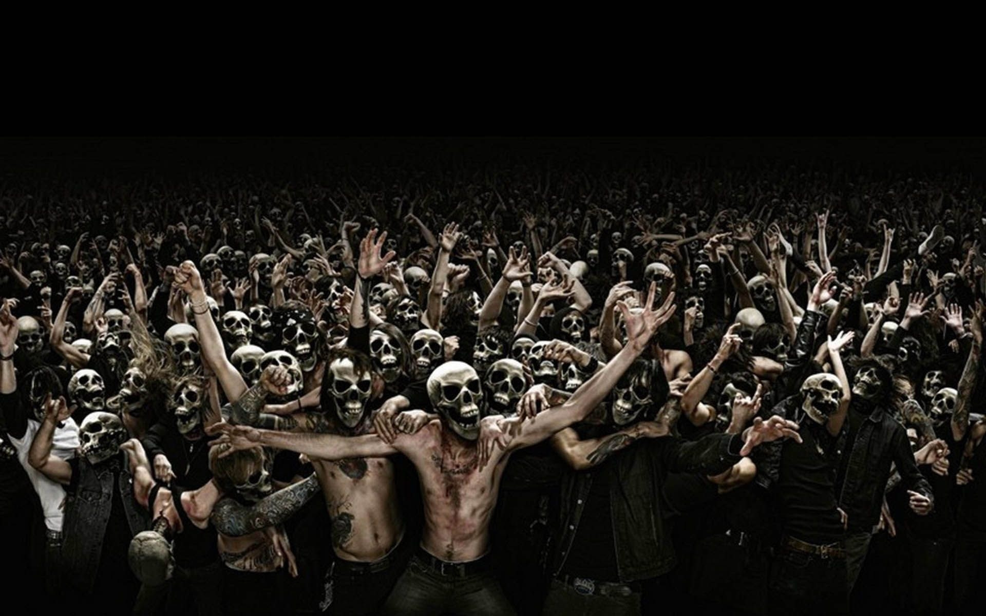 Crowd Of Skull Faces Pictures Photos And Images For Facebook