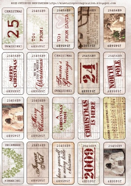 Vintage Christmas Tags Pictures, Photos, and Images for Facebook ...