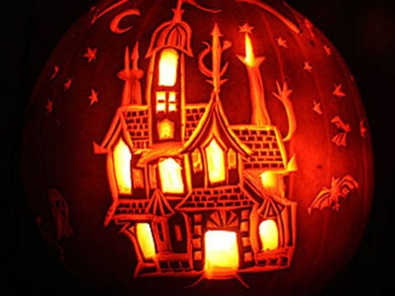 Haunted house pumpkin pictures photos and images for