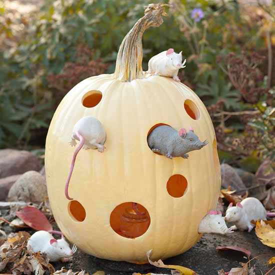 Pumpkin mouse house pictures photos and images for White pumpkin carving ideas