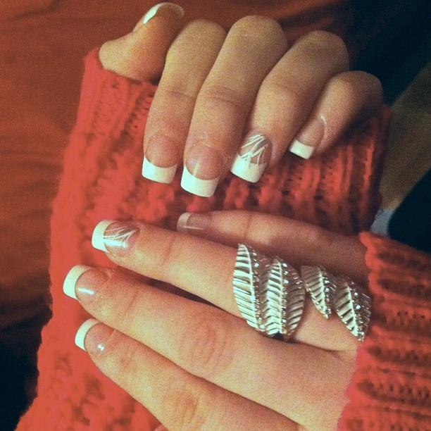 Winter French Manicure Pictures, Photos, and Images for Facebook