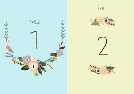Printable table numbers pictures photos and images for facebook
