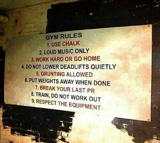 Gym Rules Pictures Photos And Images For Facebook