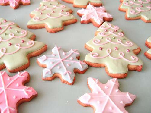 Snowflake And Christmas Tree Christmas Cookies Pictures Photos And