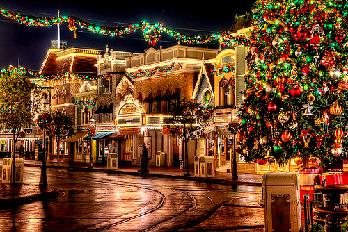 Image result for disneyland at christmas