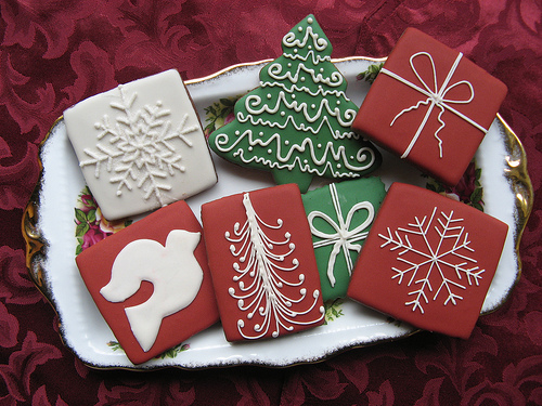 Christmas Tree And Gift Shaped Cookies Pictures Photos And Images