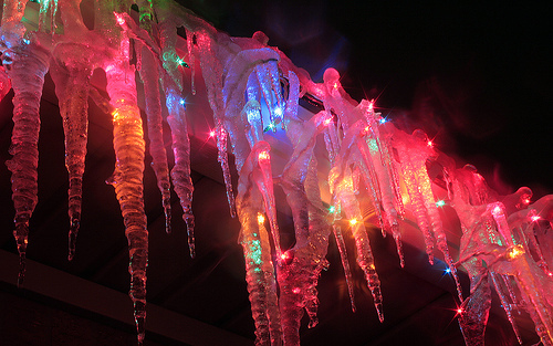 Ice christmas lights