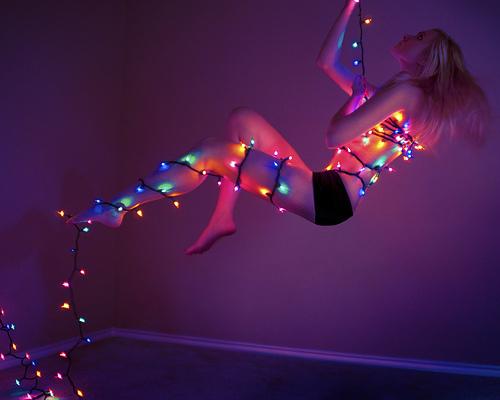 Christmas Lights Girl