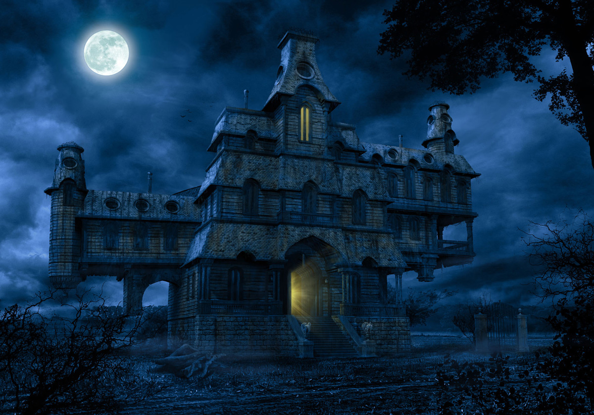 scary blue haunted house pictures photos and images for facebook