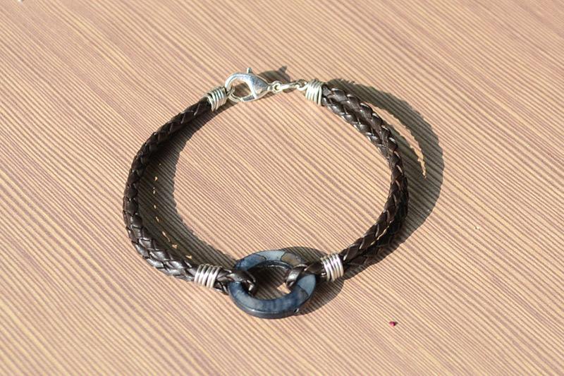 Black Leather Bracelets For Men