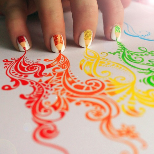 Colored Pencil Nail Design Pictures Photos And Images For Facebook