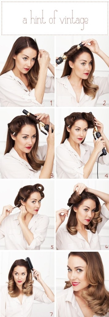 DIY A Hint Of Vintage Hairstyle Pictures Photos And Images For - Hairstyle diy tumblr