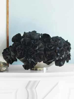 Black paper flower bouquet