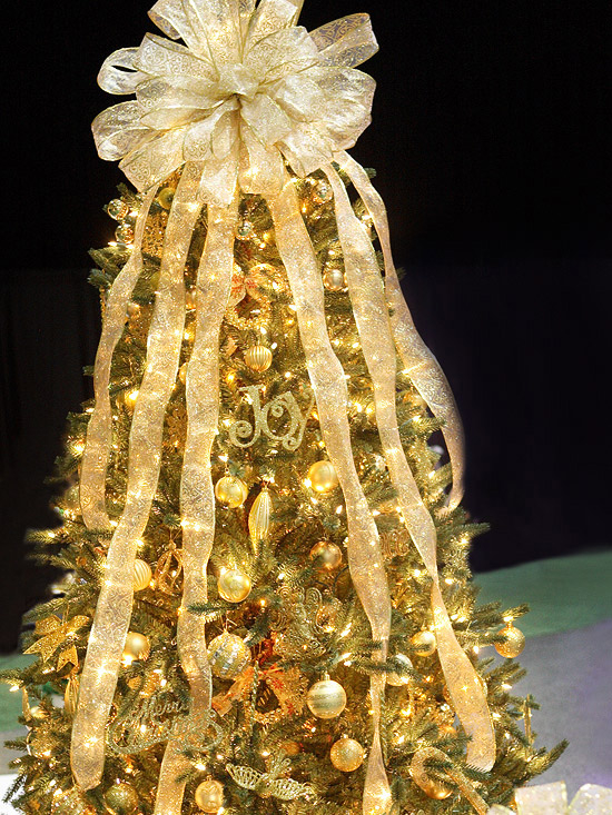 glittery gold christmas tree - Gold Christmas Tree