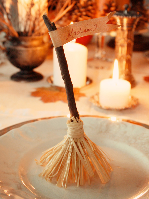 Witch Broomstick Place Cards Pictures Photos And Images
