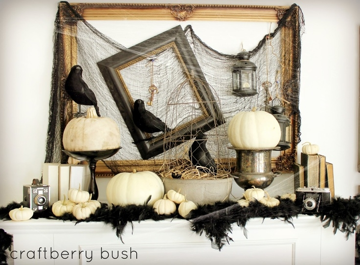 halloween mantel - Halloween Mantel Decor