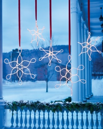 Outdoor hanging snowflake ornaments pictures photos and for Large outdoor hanging ornaments