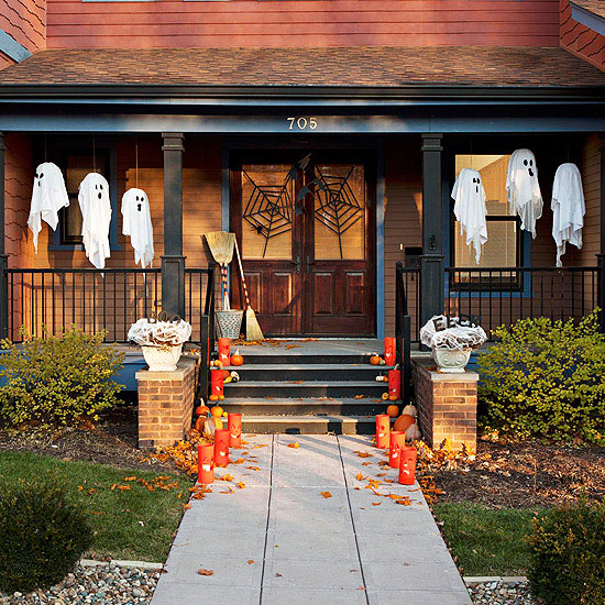 halloween centric doorstep pictures photos and images