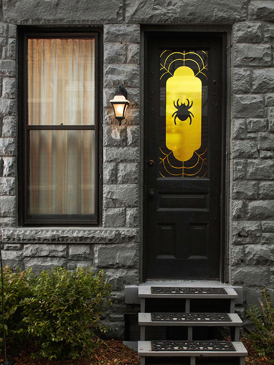 Spooky Spider Window Decoration Pictures Photos And