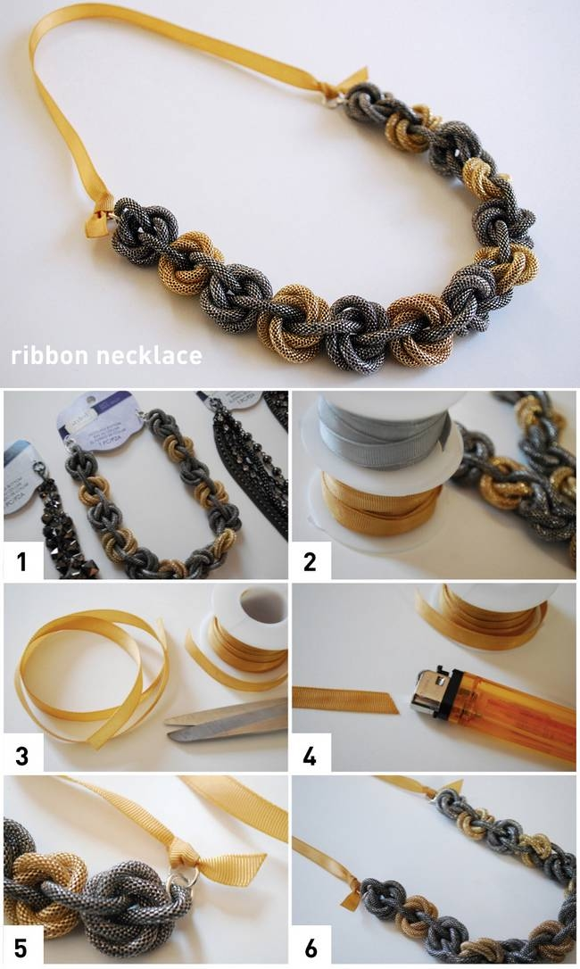 Diy Ribbon Necklace Pictures Photos And Images For