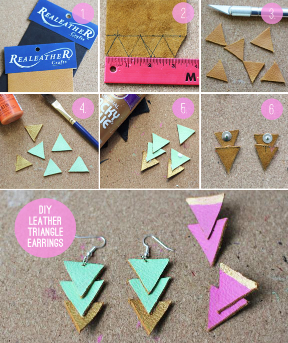 Diy Leather Triangle Earrings Pictures Photos And Images For
