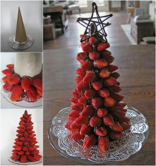 DIY Strawberry Christmas Tree Pictures, Photos, And Images
