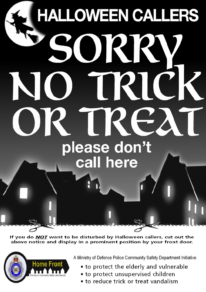 Halloween No Trick Or Treat Notice Pictures Photos And Images For