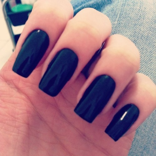 Black Manicure Nails Pictures Photos And Images For Facebook