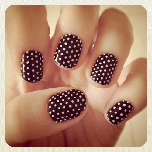 Polka dot nails pictures photos and images for facebook tumblr polka dot nails sciox Image collections