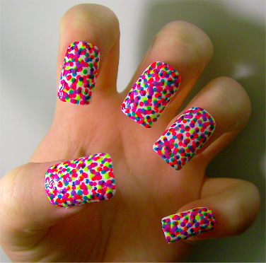 Rainbow polka dot nails pictures photos and images for facebook rainbow polka dot nails sciox Images