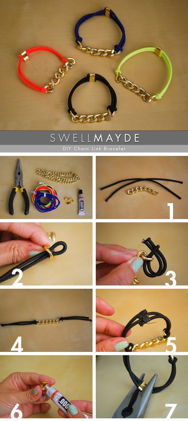 Сделать браслет на резинке своими руками