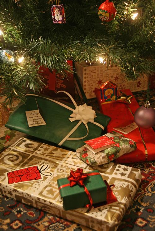 Christmas Presents Around Tree Stock Image - Image of ... |Wrapped Christmas Presents Under The Tree