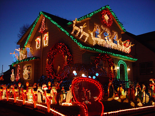 Beautiful Christmas Decorated House