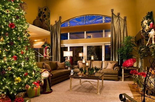 Christmas living room pictures photos and images for - Christmas decoration in living room ...