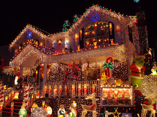 Perfect Christmas decorated house