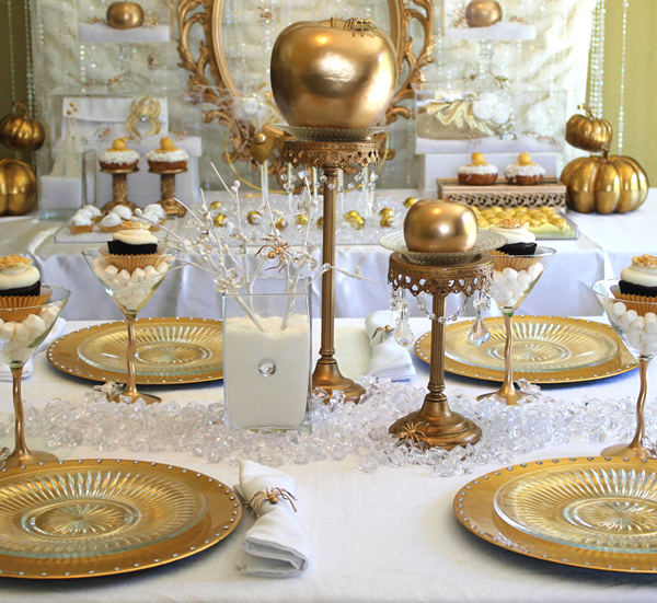 Gold dinner party decor pictures photos and images for