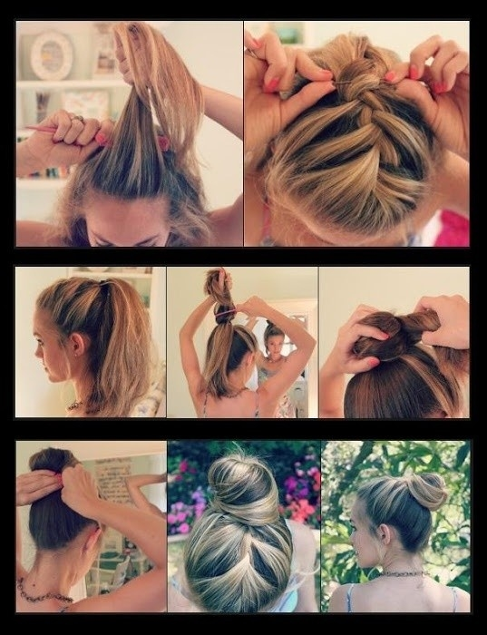 DIY Bun Hairstyle Pictures Photos And Images For Facebook