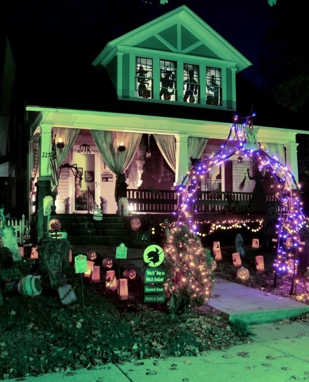 green glow halloween home decorations