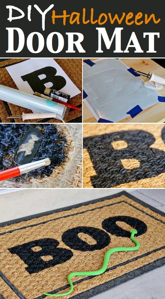 Diy Halloween Door Mat Pictures Photos And Images For