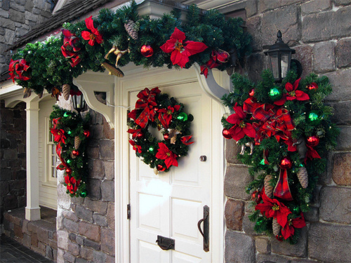 christmas front door decorationsChristmas Front Door Decorations Pictures Photos and Images for